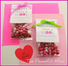 Valentine Treat Bags with M.