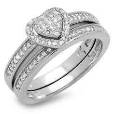 Engagement Rings Simple | 023 Carat ctw Sterling Silver White Diamond Ladies Engagement Ring Set 14 CT Size 8 * You can get more details by clicking on the image. Note:It is Affiliate Link to Amazon.