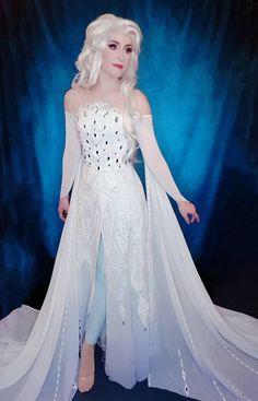 Frozen Cosplay, Elsa Cosplay, Frozen Costume, Cosplay Diy, Disney Cosplay, Cosplay Outfits, Cosplay Costumes, Diy Wedding Dress, Diy Dress