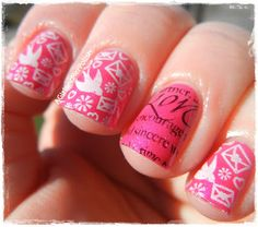 A Girl and Her Polish: Sunday Stamping - Valentine's Day