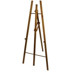 Antiques Furniture Hearty Antique Adjustable Artist Studio Easel Matching In Colour
