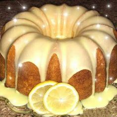Homemade lemon Pound Cake with lemon glaze: Ingredients : For the Cake 3 cups all purpose flour, spooned into measuring cup and leveled-off with a knife, plus more for the pan ½ teas… Pound Cake Glaze, Lemon Bundt Cake, Lemon Glaze For Cake, Lemon Buttermilk Pound Cake, Lemon Glaze Recipe, Lemon Desserts, Lemon Recipes, Meal Recipes, Diabetic Desserts