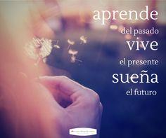 Aprende del pasado, vive el presente y sueña el futuro.  Motivación. Filosofía de vida. Autoayuda. Felicidad. Superar la depresión, traumas, malos recuerdos, ansiedad, angustia, estrés.  Optimismo. Ser feliz. Sabiduría
