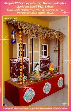 Ganpati Decoration Ideas For Home | Decoration | Pinterest | Ganpati  Decoration At Home, Decoration For Ganpati And Ganapati Decoration