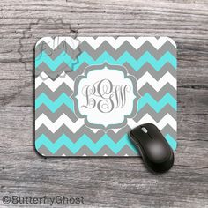 Hey, I found this really awesome Etsy listing at https://www.etsy.com/listing/180491710/monogrammed-mousepad-turquoise-blue-and