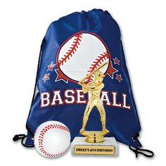 #Baseball Tro-Favors. Make Kids #Birthdays More Fun with Sport #Party #Favors. http://www.crownawards.com/StoreFront/PFBB1.ALL.Ribbons-Tro-Favors.Baseball_Tro-Favor_Value_Pack.prod