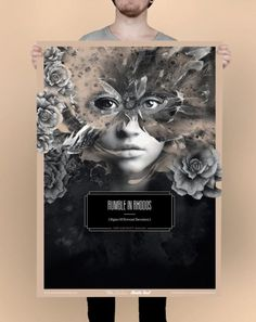 Fredrik Melby's works are inspired by the beauty of darkness. He often works for rock bands by creating stunning record covers, cd covers and poster designs.