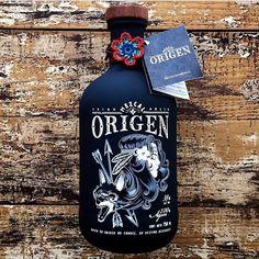 Bottle & Label / Illustration / by herrkapitan Bottle Packaging, Bottle Labels, Brand Packaging, Label Design, Sign Design, Mezcal Tequila, Wine And Beer, Packaging Design Inspiration, Bottle Design