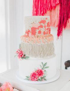 Top Cakes of 2015- woven macrame cake!
