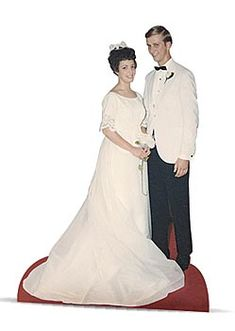 Life size wedding cutout for 50th anniversary