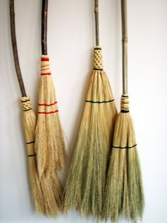 Handmade Appalachian style broom. Made in Stone Mountain, GA. Sweeps much better than a commercial broom, natural tendrils pick up fine particles.    handmade with natural material  completely functional