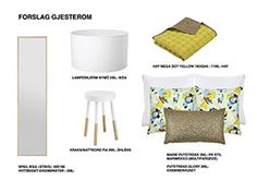 moodboard, guestroom, bright, light, yellow, gold and white, scandinavian, scandistyle, interior