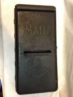ANTIQUE VINTAGE 1910 ARMSTRONG PRIMITIVE MAILBOX