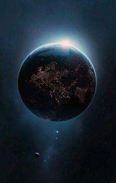 Coté nuit de le Terre - Night side of Earth