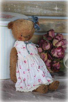 Leah :) OOAK Vintage Style Sweet Artist Teddy Bear by Natali Sekreta -  Antique style  - stuffed - home decor - gift - Birthday