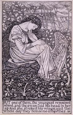 The Wild Swans -- Arthur J. Gaskin -- Fairytale Illustration