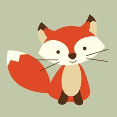 Fox Printable for Forest Nursery