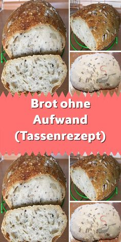 Brot ohne Aufwand (Tassenrezept) I love cup recipes. I don't need a trolley or measuring cup, just an ordinary cup of 250 ml. Yesterday I baked this delicious bread with little effort. Easy Homemade Recipes, Homemade Baby Foods, Healthy Soup Recipes, Easy Cake Recipes, Baby Food Recipes, Dinner Recipes, Homemade Dog, Microwave Mug Recipes, Food Dog