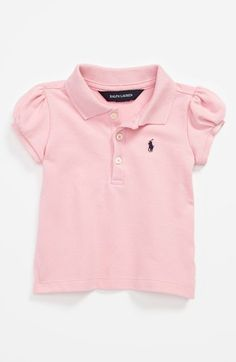 Ralph Lauren Polo Shirt (Baby Girls) available at  Nordstrom Baby Polo 99a32429d2d73
