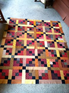 Scrappy chain quilt needs borders