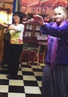 Sharing hula with Yuko Okumura in Bloomington IN