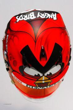 Heikki Kovalainen x Angry Birds helmut F1 2012