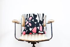 Bold Print Cotton Cushion Cover, by MayBrady on etsy (Melbourne-based etsy seller)