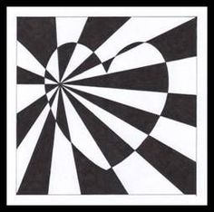 Op art srdce Zentangle Drawings, Art Drawings, Op Art Lessons, Badass Drawings, Ecole Art, Hippie Art, Illusion Art, Collaborative Art, Science Art
