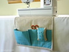 I adore this little sewing caddy - it even has a detachable pincushion! Great tutorial