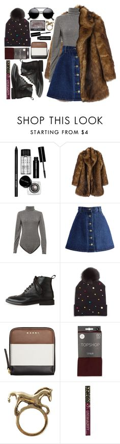"""but her mind's on you"" by karllydolly ❤ liked on Polyvore featuring Bobbi Brown Cosmetics, Chicwish, Rochas, House of Lafayette, Marni, Topshop, NLY Accessories, Cynthia Rowley, NARS Cosmetics and fauxfurcoats"