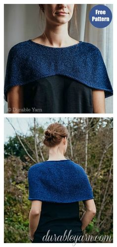 The Stylish Capelet Free Knitting Pattern was inspired by the pelerine the queen Maxima wore. It is a fantastic choice for those who want to add a touch of pizzazz to their cooler weather wardrobe. Baby Knitting Patterns, Capelet Knitting Pattern, Knitted Cape Pattern, Outlander Knitting Patterns, Knitted Capelet, Knitting Blogs, Easy Knitting, Crochet Pattern, Caplet Pattern