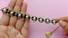Beaded Bracelets Tutorial, Diy Bracelets Easy, Bracelet Crafts, Handmade Bracelets, Beaded Wedding Jewelry, Beaded Jewelry Designs, Bead Jewellery, Making Bracelets With Beads, Easy Youtube