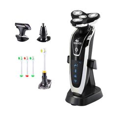 24.61$  Watch here - http://alimk0.shopchina.info/go.php?t=32792672846 - Hot4in1 Rechargeable Floating Razor Electric shaver Triple Blade shaving cutting machine nose ear hair trimmer 4D men Face Care   #magazineonline