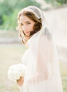 Bride in vintage cap veil | photography by http://ktmerry.com/