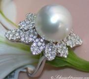 Exzellenter Südseeperle Ring mit Brillanten image