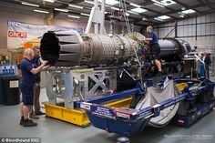 The mission to produce the world's first 1,000mph (1,600km/h) car has been given a boost - or more accurately thrust - with the installation of a state-of-the-art jet engine. A team of five engineers spent eight hours fitting the EJ200 jet engine to the upper and lower chassis of the supersonic Bloodhound car