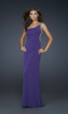 Wow~ Such A Wonderful Sleeveless Embellished Majestic Purple Dress by 17252 Evening Dresses