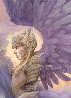 Valkyrie 5x7 Art Print by Leanna TenEycke  Free by bytheoakArt, $12.00