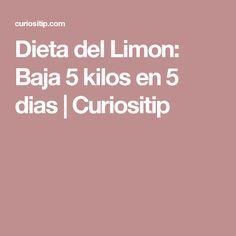 Dieta del Limon: Baja 5 kilos en 5 dias | Curiositip