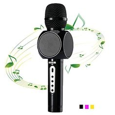 Enem Wireless Microphones Karaoke with Portable Speaker for Music Playing and Singing Anytime 3-in-1 Bluetooth Karaoke machine for iPhone Android Smartphone Or Pc(Black) Wireless Microphones Portable Bluetooth Smartphone is rated as one of the highest selling products online in Musical Instruments category in India. Click below to see its Availability and Price in YOUR country.