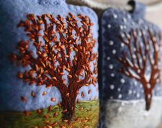 The Four Seasons. Embroidered Seasons Garland by Aly от alyparrott