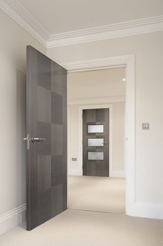 Apollo Chocolate Grey Internal Door & Glazed Door #grey