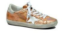 Golden Goose Deluxe Brand Women's Orange Leather Sneakers.