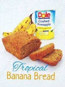 For this recipe I used  3 over ripened dole bananas, pineapple purée, local organic honey, 2 eggs, whole wheat flour, salt and baking soda. Thats it! Super yummy and VERY healthy! #bananabread