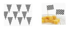 Amazon.com: RACE CAR CHECKERED Flag PARTY Decorations - 100 ft RACING FLAG PENNANTS/Banner/DECOR & 144 Checkered Flag Appetizer/CUPCAKE Picks/Great for NASCAR or INDY Birthday PARTY: Everything Else