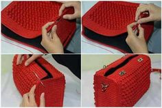 ergahandmade: Crochet Bag + Diagram + Step By Step Tutorials Very elegant and beautiful, this crochet bag. See how to make an elegant crochet bag. It's a wonderful crochet job. Surprise someone with this spectacular crochet bag. This Pin was discovered Crochet Handbags, Crochet Purses, Crochet Stitches, Crochet Patterns, Crochet Diagram, Knitting Patterns, Free Crochet Bag, Crochet Bags, Crochet Bag Tutorials
