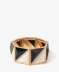 Bold Colorblocked Triangle Bracelet | FOREVER21 - 1021840541 | $12.80