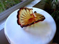 Art Glass Trumpeted Flower Elegant Centerpiece Creation