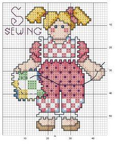 Schema punto croce Abc Girls 19