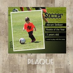 Soccer Plaque Soccer Poster Trading Cards Kids by TheNauticalHouse